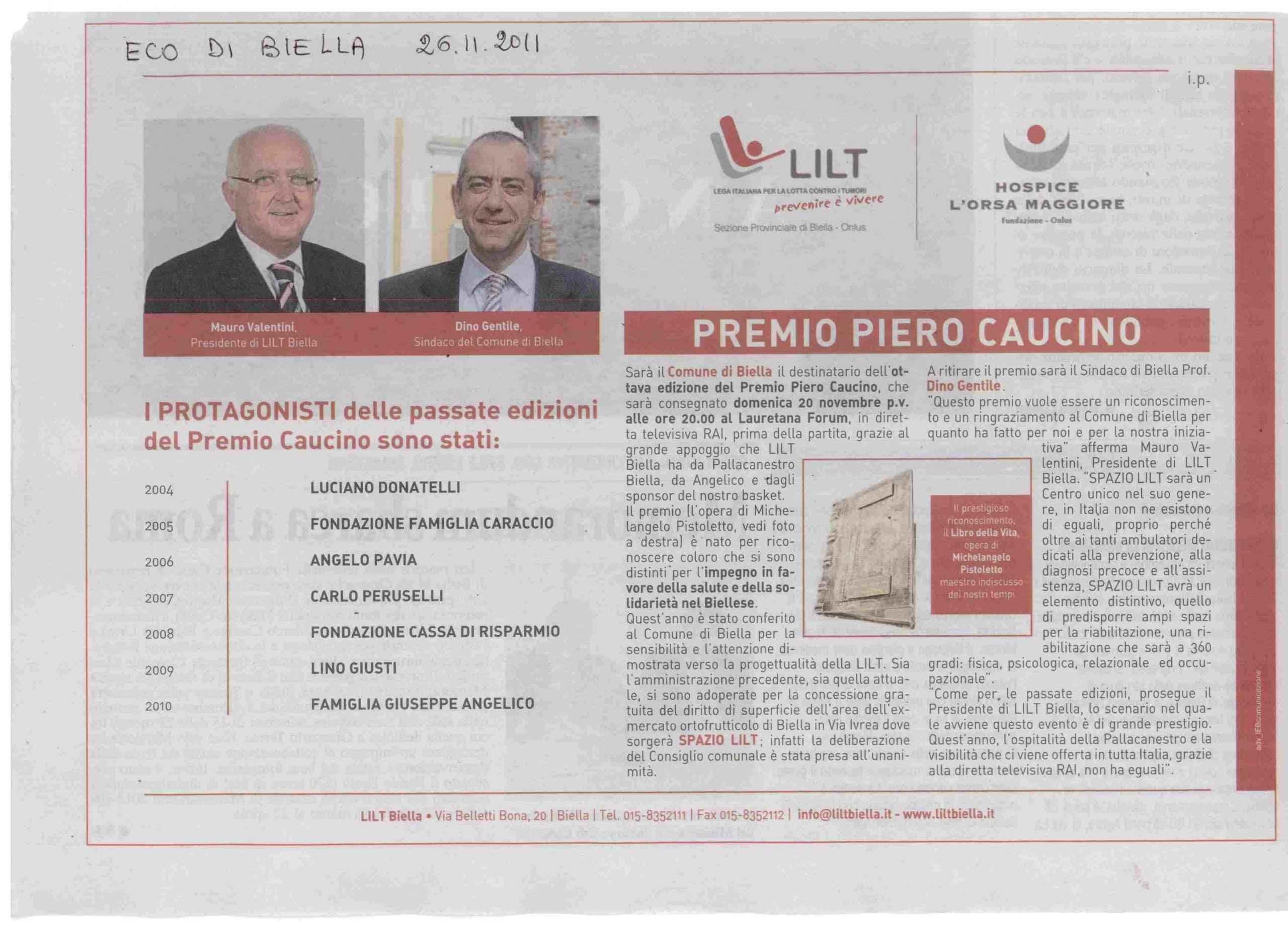 PREMIO PIERO CAUCINO