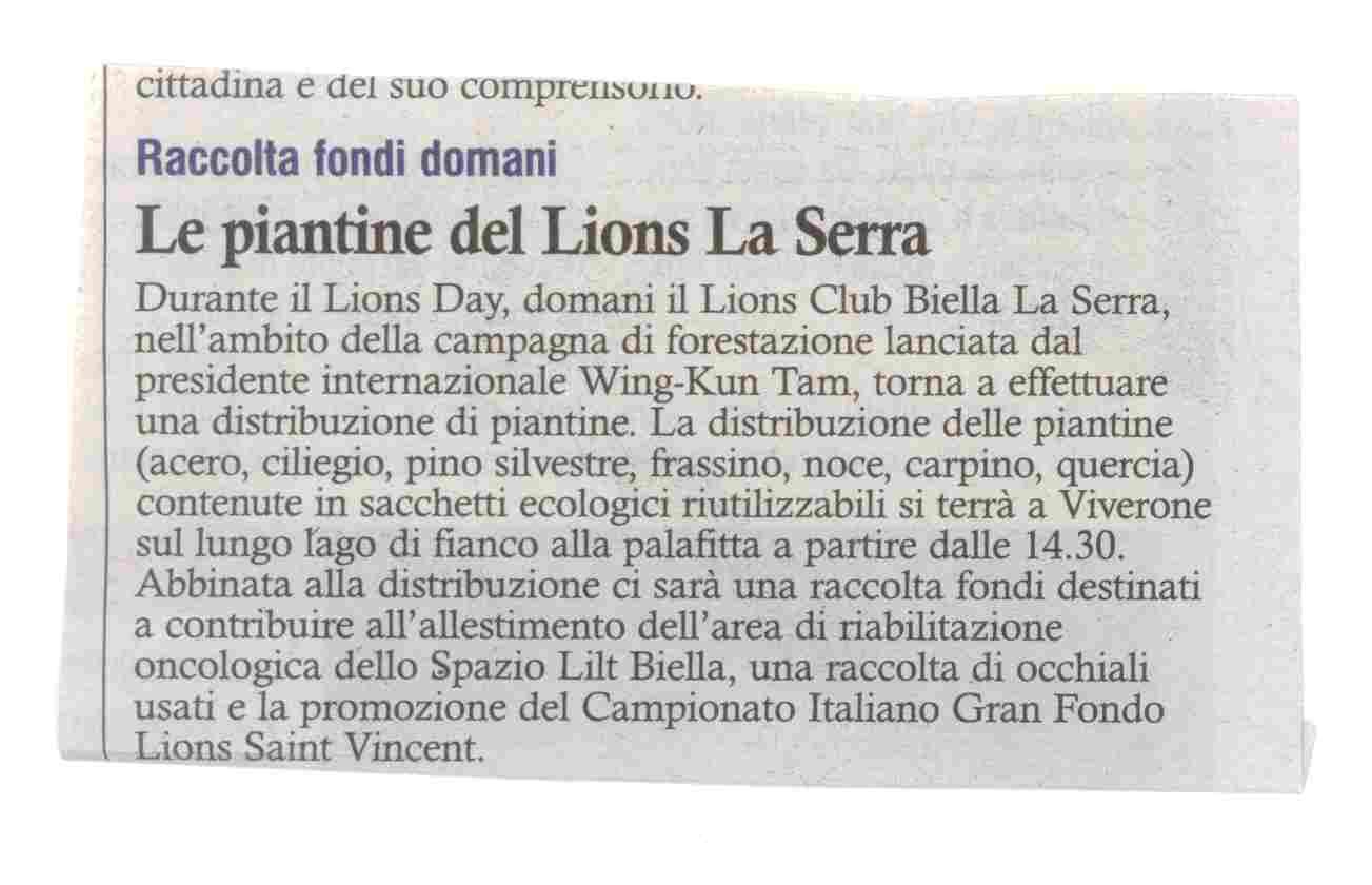Le Piantine del Lions La Serra
