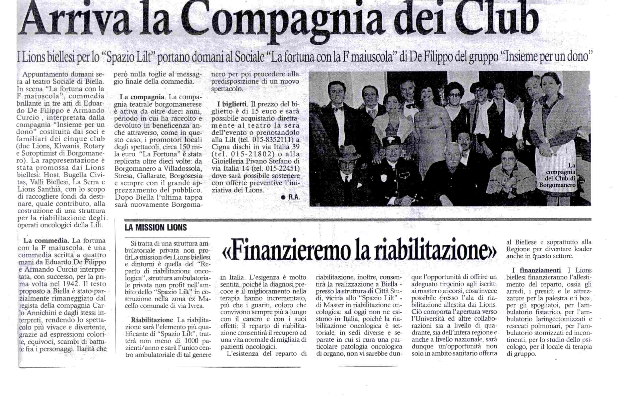 """Signore e Signori: la """"Compagnia dei Club""""!"""
