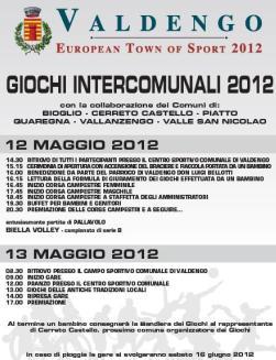 12 e 13 Maggio 2012: Valdengo European Town of Sport 2012