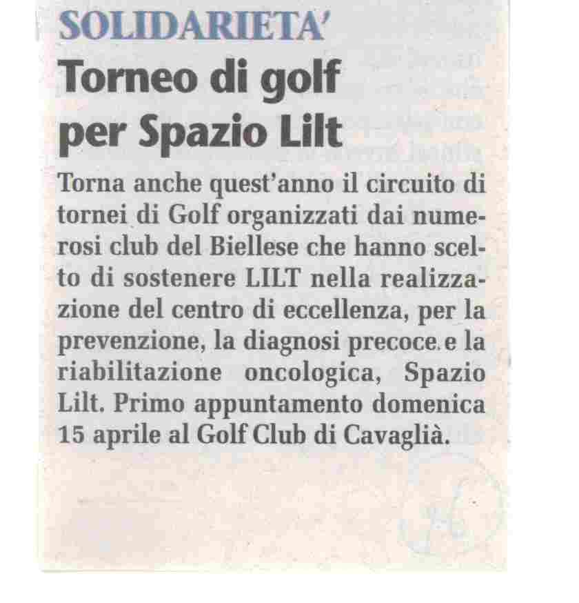 Torneo di Golf per Spazio LILT