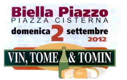 """Anche LILT BIELLA al Piazzo per """"Vin, Tome e Tomin"""""""