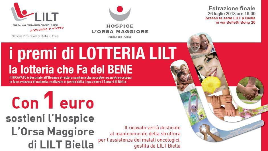 Ordina on-line il tuo biglietto della lotteria LILT 2013