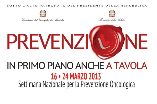 Dal 16 al 24 marzo settimana nazionale per la prevenzione oncologica