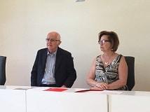 conferenza stampa in sala convegni - Valentini e Daniela