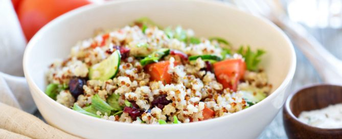 insalata quinoa menta pomodorini