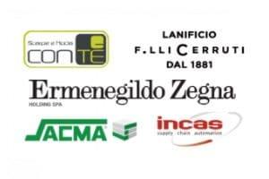 ConTé Scarpe e Moda, Lanificio F.lli Cerruti, Ermenegildo Zegna, Sacma e Incas coinvolgimento dei dipendenti