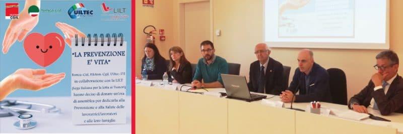 Sindacati a Biella per la prevenzione del cancro