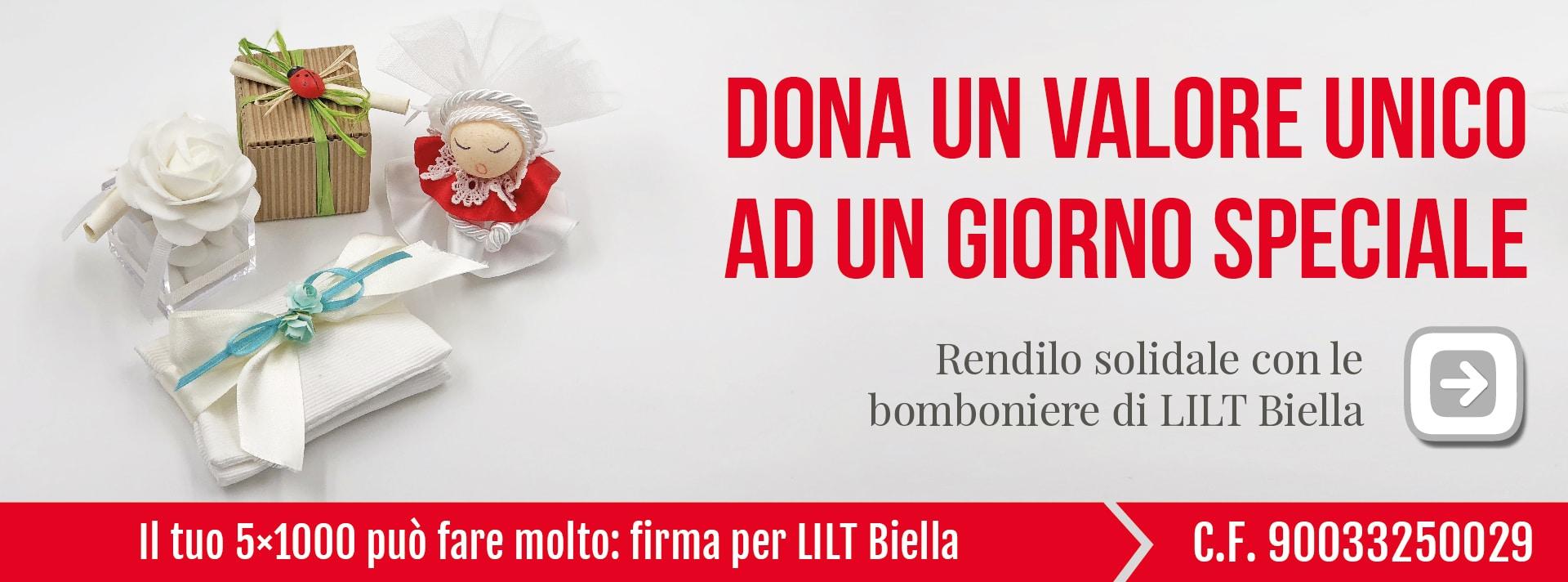 Bomboniere solidali LILT Biella