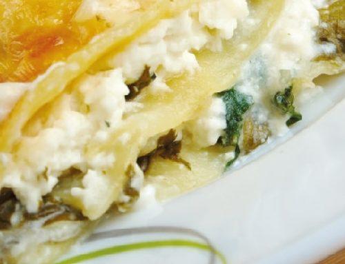 Lasagne Veg con cime di rapa, zucca e besciamella vegetale