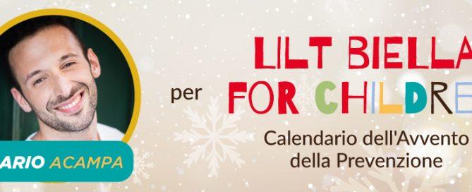 MArio Acampa testimonial del calendario dell'avvento della prevenzione oncologica - LILT Biella